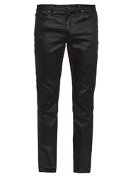 John Varvatos Slim Leg Coated Cotton Blend Jeans