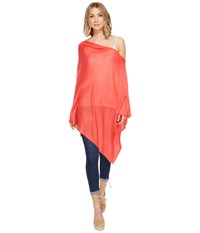 Echo Everyday Luxe Poncho Topper Bright Coral Women's Clothing Gray