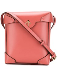 Manu Atelier Mini Pristine Crossbody Bag Pink