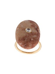 Cvc Stones Imperial Topaz And Diamond Ring Red