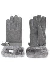 Australia Luxe Collective Buckled Shearling Gloves Anthracite