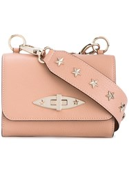 Red Valentino Studded Shoulder Bag Women Calf Leather One Size Nude Neutrals