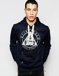 Firetrap Over Head Hooded Sweater Navy