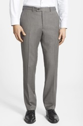 Duckie Brown Small Check Flat Front Wool Trouser