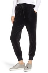 Caslon Off Duty Velour Jogger Pants Black