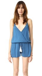 Young Fabulous And Broke Kenzie Romper Pacific Blue
