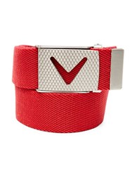 Callaway Golf Chevron Buckle Cotton Woven Belt Tango Red
