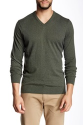 Barbour V Neck Sweater Green