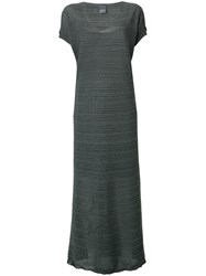 Lorena Antoniazzi Ribbed Maxi Dress Grey