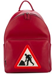 Anya Hindmarch 'Men At Work' Backpack Red