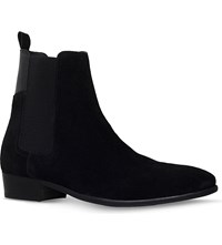 Hudson Watts Suede Chelsea Boots Black