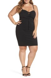 Soprano Plus Size Women's Corset Body Con Dress Black