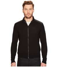 Belstaff Kelby Fine Gauge Merino Full Zip Sweater Black Men's Sweater