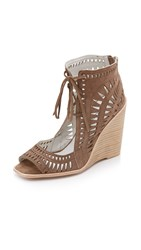 Jeffrey Campbell Rodillo Wedge Sandals Taupe