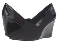 Anne Klein Tarence Black Matte Stretch Fabric Women's Shoes