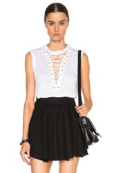 Iro Tissa Sleeveless Tee In White