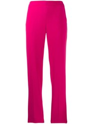 Alberto Biani Tailored Cropped Trousers Pink