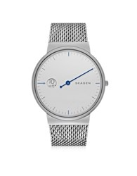 Skagen Ancher Mono Steel Men's Watch W Mesh Band Silver