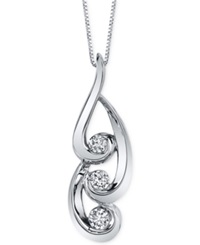 Sirena Diamond Swirl Pendant Necklace 3 8 Ct. T.W. In 14K White Gold