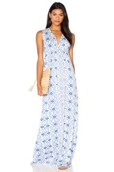 Rachel Pally Long Sleeveless Caftan Dress Blue