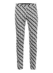 Topman Black And White Houndstooth Ultra Skinny Fit Trousers