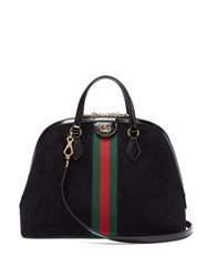 Gucci Ophidia Suede Tote Bag Black Multi