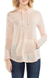 Vince Camuto Linen Hoodie French Peach