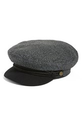 Brixton Women's 'Fiddler' Newsboy Cap Black Heather Grey Black