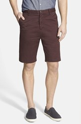 Men's Rodd And Gunn 'Penrose' Flat Front Shorts Burgundy