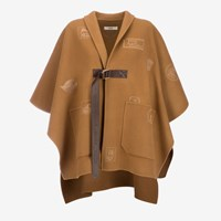 Bally Women's Double Faced Wool Cape In Cowboy Brown
