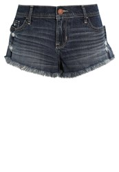 Hollister Co. Denim Shorts Dark Destroy Destroyed Denim