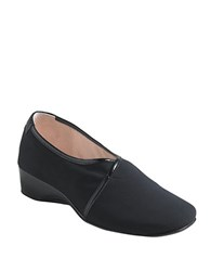 Taryn Rose Kelsey Wedge Black Stretch
