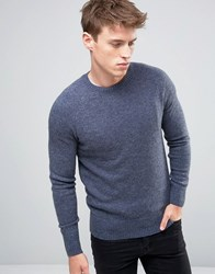 New Look Lambswool Jumper In Blue Mid Blue