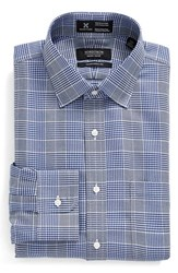 Nordstrom Men's Men's Shop Smartcare Traditional Fit Graphic Check Dress Shirt Blue Mazarine