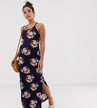 New Look Maternity Plisse Maxi Dress In Floral Pattern Blue