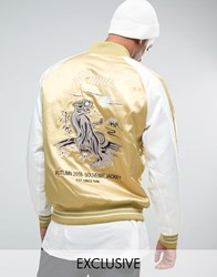 Puma Embroided Souvenir Jacket In Beige Exclusive To Asos Beige