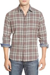 Wallin And Bros Trim Fit Plaid Flannel Sport Shirt Brown