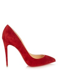 Christian Louboutin Pigalle Follies 100Mm Suede Pumps Red