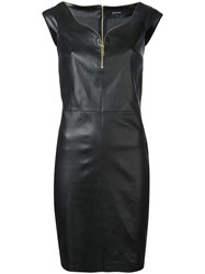 Jitrois Zip Trim Mini Dress Black