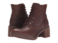 Timberland Averly Lace Chukka Dark Brown Forty Leather Women's Boots Tan
