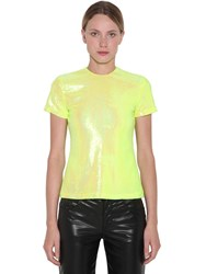 Maison Martin Margiela Sequined S S Top Yellow