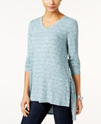 Styleandco. Style Co. Ribbed High Low Tunic Only At Macy's Green Nectar