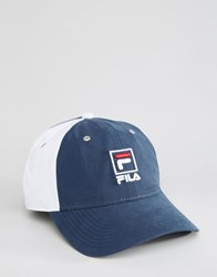 Fila Cap In Nylon With Contrast Panels Navy