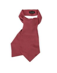 Forzieri Optical Print Silk Tie Ascot Red