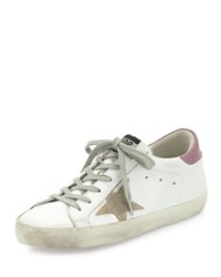 Golden Goose Colorblock Leather Low Top Sneaker White