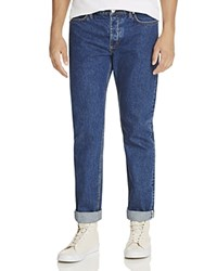 Soulland Erik Slim Fit Cuffed Jeans In Indigo