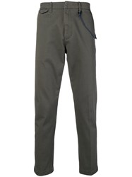 Closed Rope Trim Trousers Grey