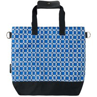 Maison Kitsune All Over Rectangle Tote Blue