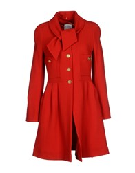 Edward Achour Coats And Jackets Full Length Jackets Women Red