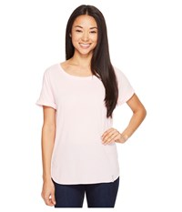 Columbia Crystal Point Short Sleeve Shirt Cherry Blossom Heather Women's Short Sleeve Pullover White